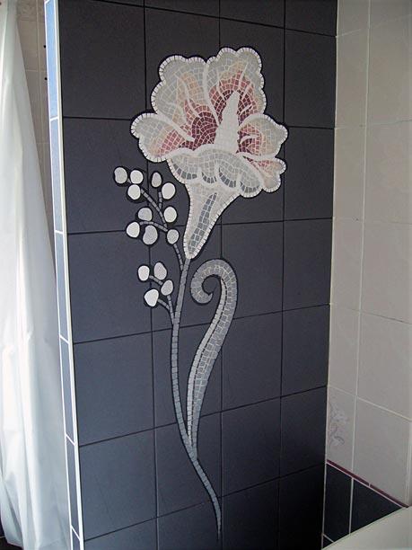 Décoration d'un mur de douche